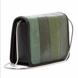 All Saints Genuine snakeskin Olive shoulder bag
